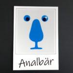 Sticker Analbär Josefa Nereus