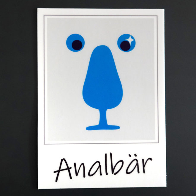 Sticker Analbär